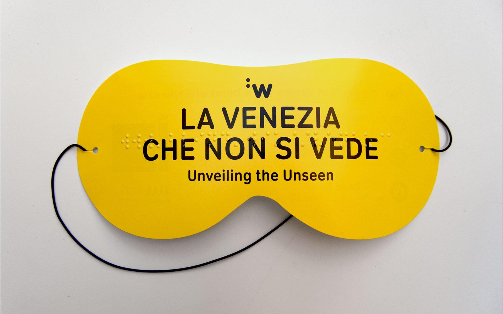 Antifaz promocional impreso en braille