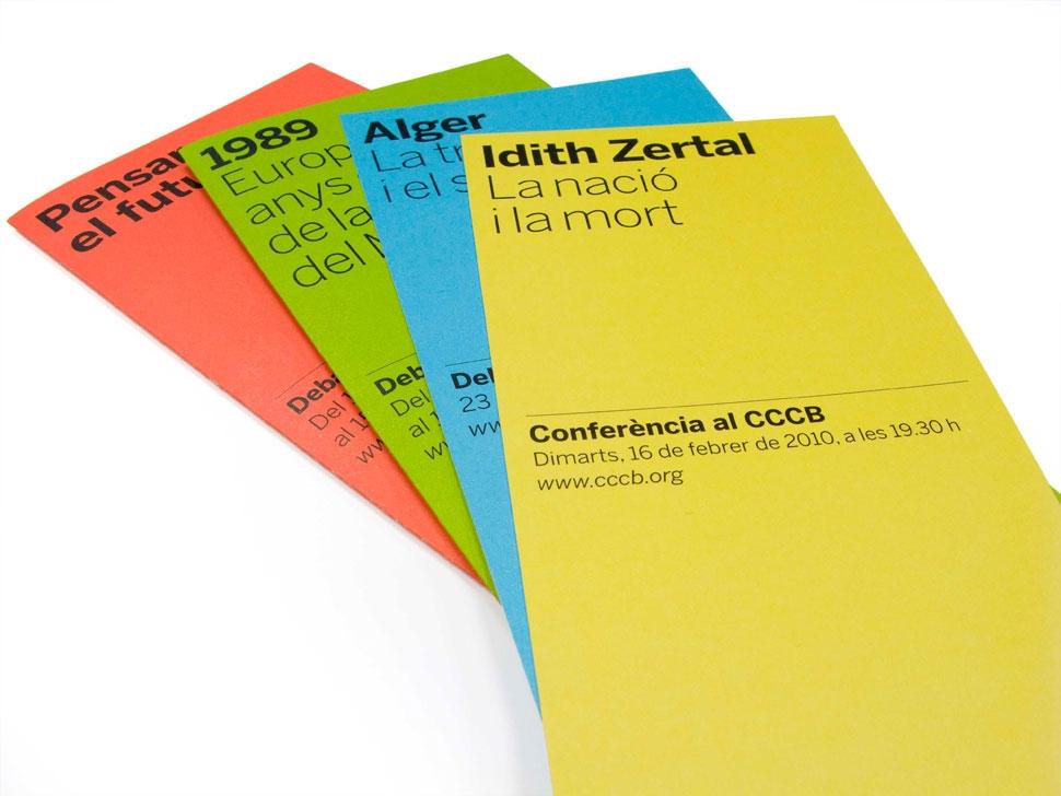 CCCB, Debats CCCB, Actividades organizadas por el Centre de Documentación del Centre de Cultura Contemporània de Barcelona.Asesoría e identidad visual.